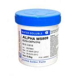 Водосмываемая паяльная паста ALPHA WS809-3 - SN62PB36AG2, 0.5KG