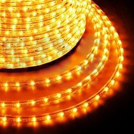 Дюралайт светодиодный 2-wires round LED Rope light - Yellow(жёлтый)