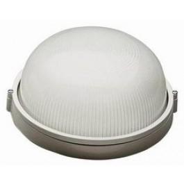 Светильник светодиодный НПБ1301 белый/черный круг IP54