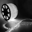 Дюралайт светодиодный с динамикой 3- wires round LED Rope light - White(белый)