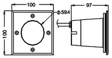 Габаритные размеры прожектора LED TV-317-3х1W-IP67