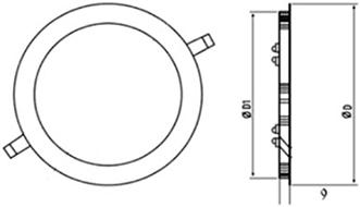Габаритные размеры светильника ДАУНЛАЙТ CBO-LED-127