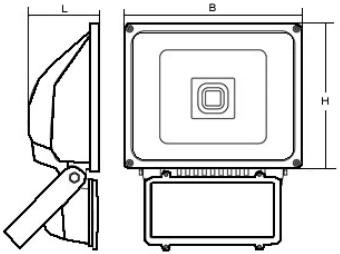 Габаритные размеры светильника СБА