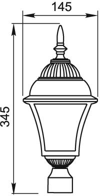 Габаритные размеры светильника PTV